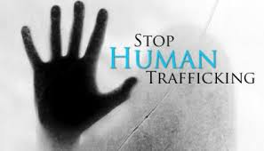 Stop Human Trafficking hand